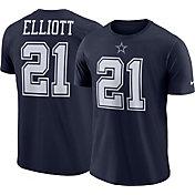 Nike Men's Dallas Cowboys Ezekiel Elliott #21 Logo Navy T-Shirt