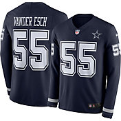 Nike Men's Dallas Cowboys Leighton Vander Esch #55 Navy Therma-FIT Long Sleeve Jersey