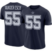 Nike Men's Dallas Cowboys Leighton Vander Esch #55 Logo Navy T-Shirt
