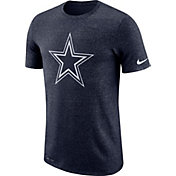Nike Men's Dallas Cowboys Marled Historic Performance Navy T-Shirt