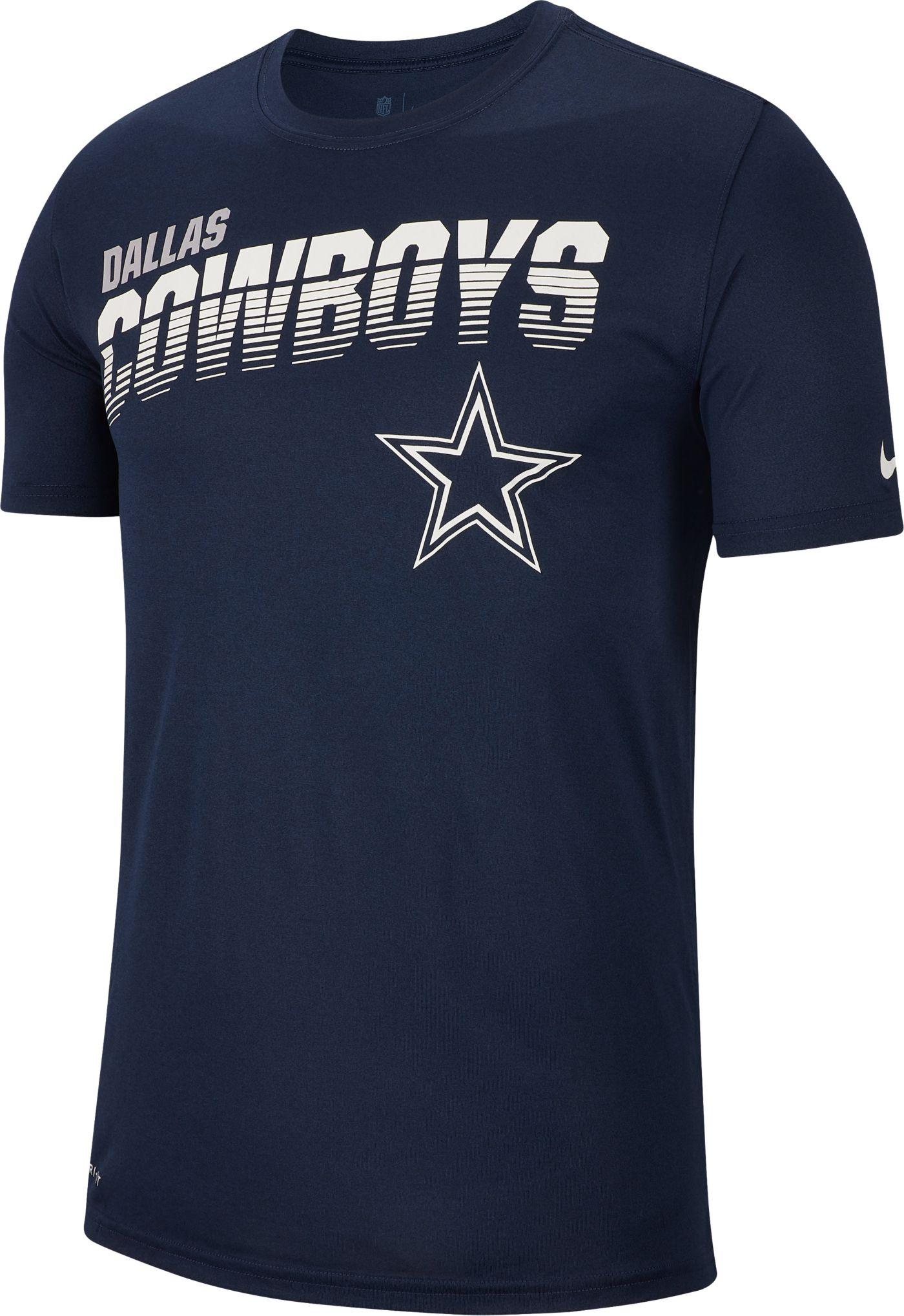 Nike Men's Dallas Cowboys Sideline Legend Performance Navy T-Shirt