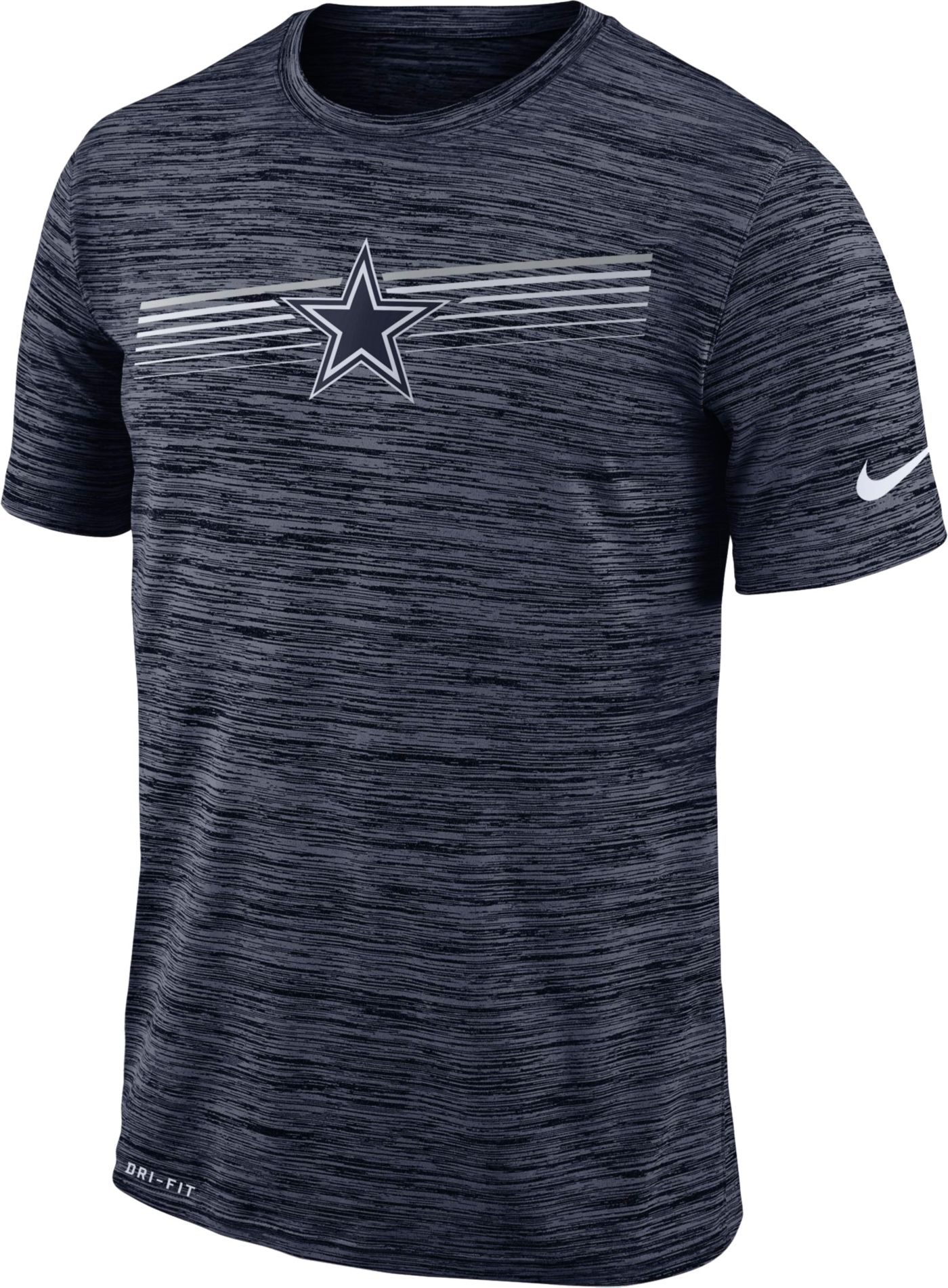 Nike Men's Dallas Cowboys Sideline Legend Velocity Navy T-Shirt