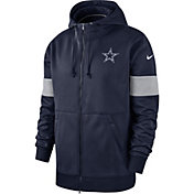Nike Men's Dallas Cowboys Sideline Therma-FIT Navy Full-Zip Hoodie