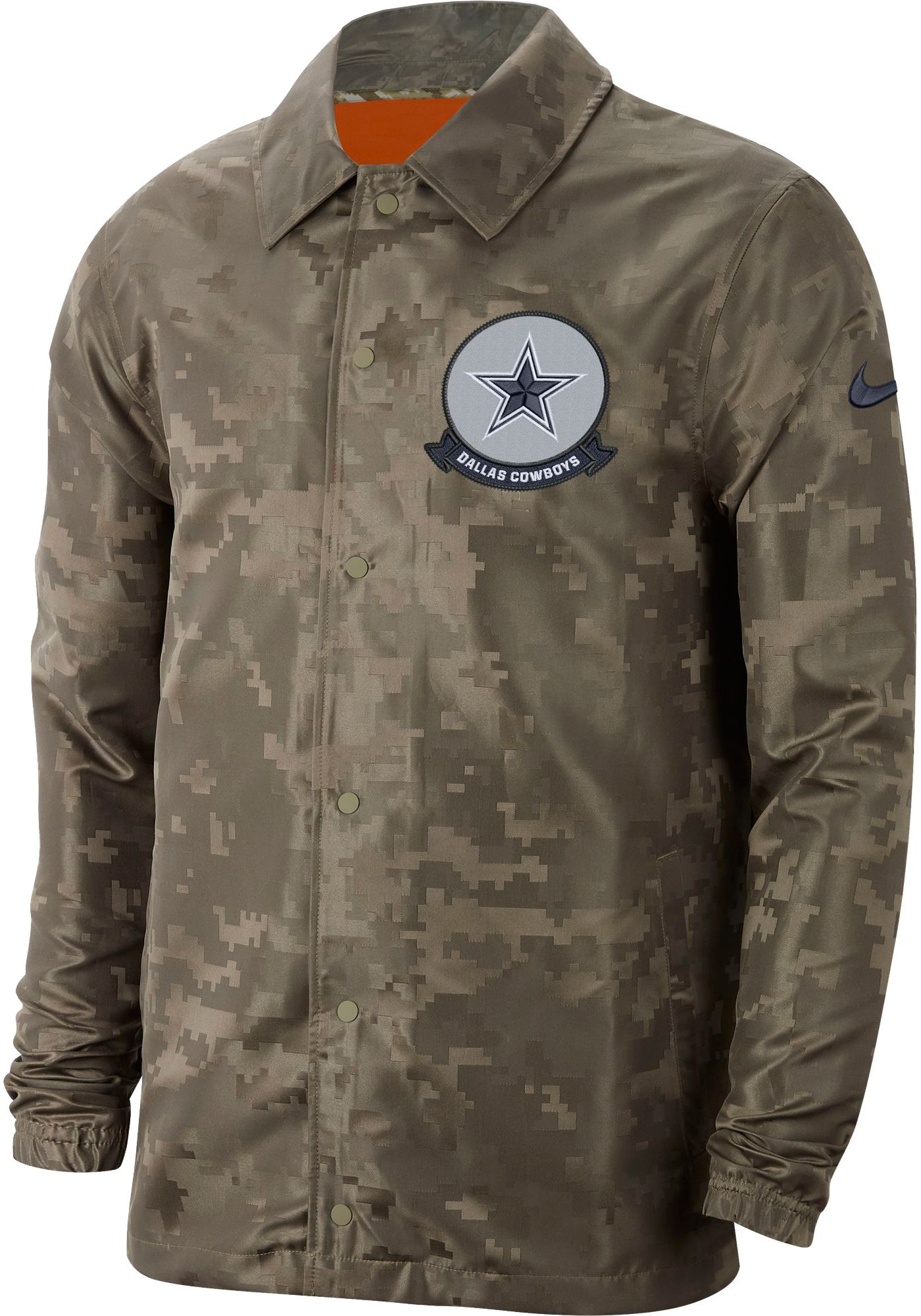 Nike Men's Salute to Service Dallas Cowboys Olive Lightweight Camo Jacket