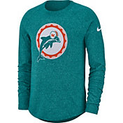 Nike Men's Miami Dolphins Marled Historic Performance Aqua Long Sleeve Shirt