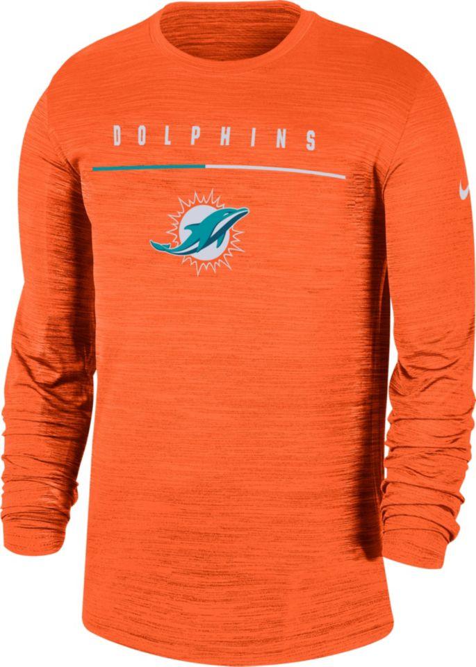 buy online 8c362 f0b2c Nike Men's Miami Dolphins Sideline Legend Velocity Orange Long Sleeve Shirt