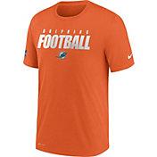 Nike Men's Miami Dolphins Sideline Dri-FIT Cotton Football All Orange T-Shirt