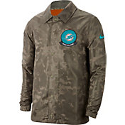 Nike Men's Salute to Service Miami Dolphins Olive Lightweight Jacket