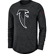 Nike Men's Atlanta Falcons Marled Historic Performance Black Long Sleeve Shirt
