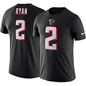 Nike Men's Atlanta Falcons Matt Ryan #2 Logo Black T-Shirt