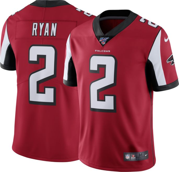 best service 38d5a 6b0b3 Nike Men's 100th Home Limited Jersey Atlanta Falcons Matt Ryan #2