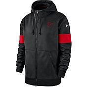 Nike Men's Atlanta Falcons Sideline Therma-FIT Black Full-Zip Hoodie