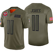 Nike Men's Salute to Service Atlanta Falcons Julio Jones #11 Olive Limited Jersey