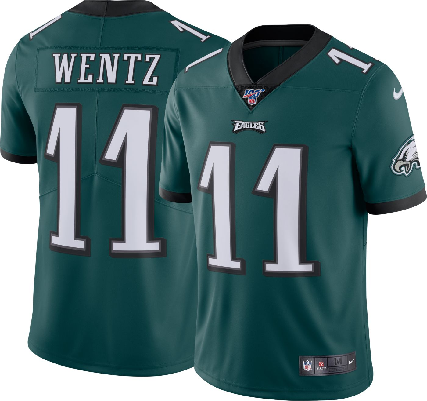 Nike Men's 100th Home Limited Jersey Philadelphia Eagles Carson Wentz #11