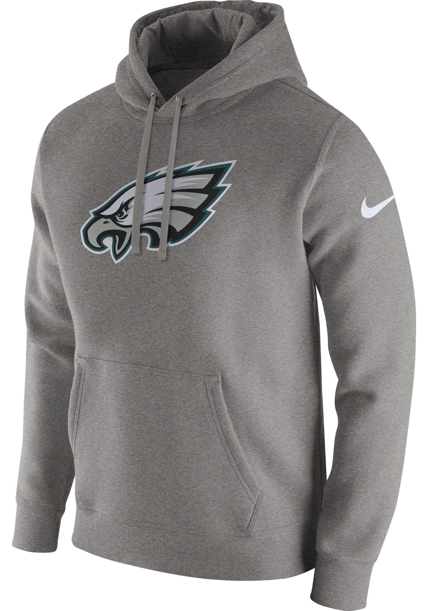 Nike Men's Philadelphia Eagles Logo Club Grey Hoodie