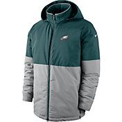 Nike Men's Philadelphia Eagles Sideline Green Heavy Jacket