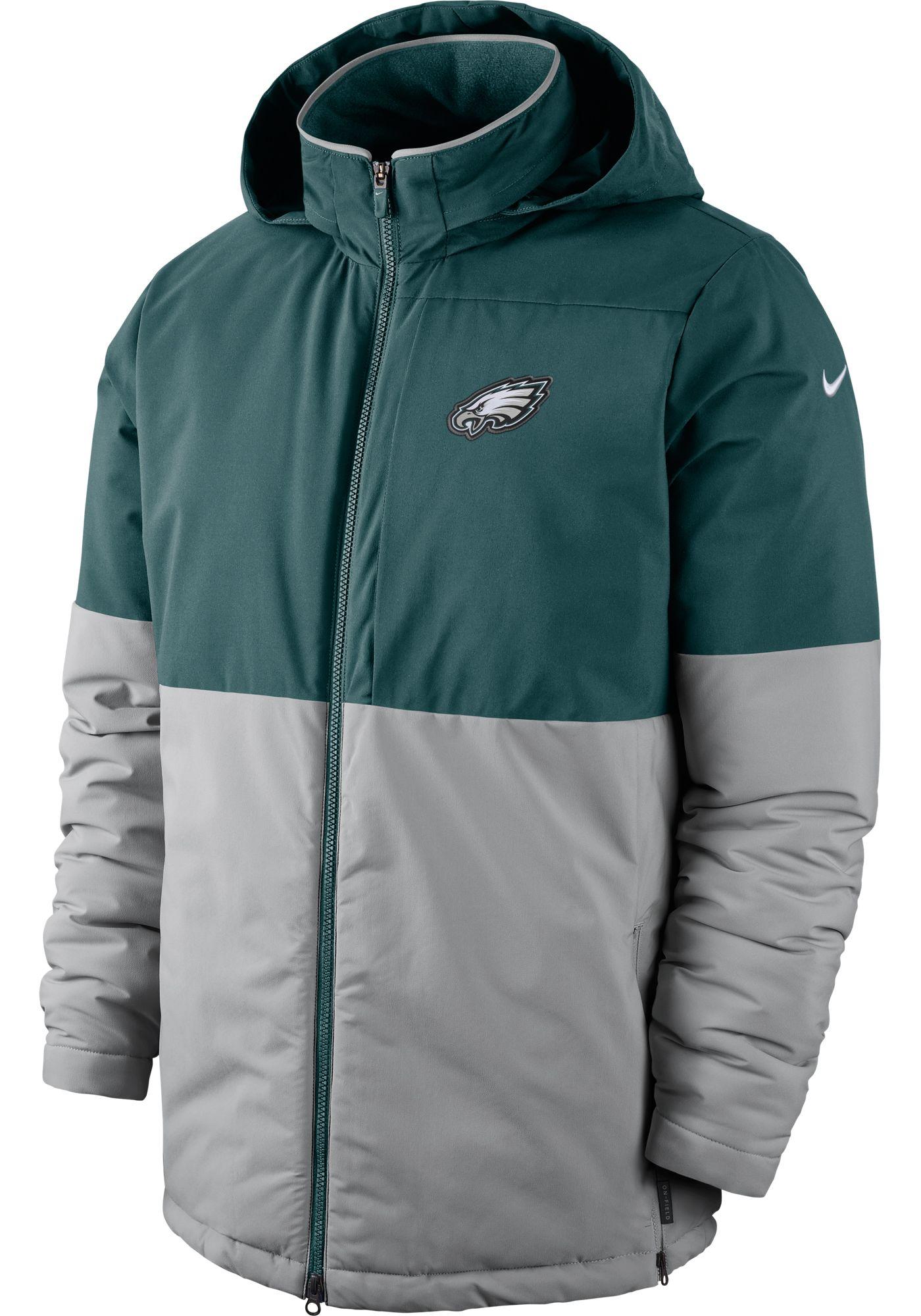 Nike Men's Philadelphia Eagles Sideline Green Heavy Jacket