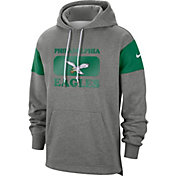 Nike Men's Philadelphia Eagles Historic Pullover Grey Hoodie