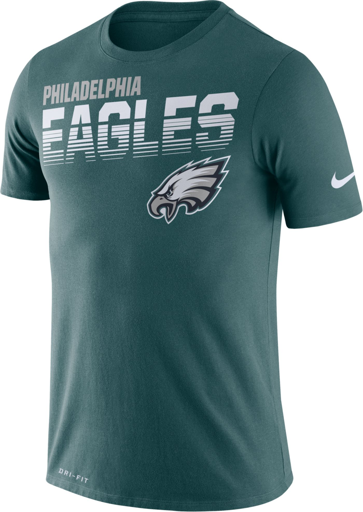 Nike Men's Philadelphia Eagles Sideline Legend Performance Green T-Shirt