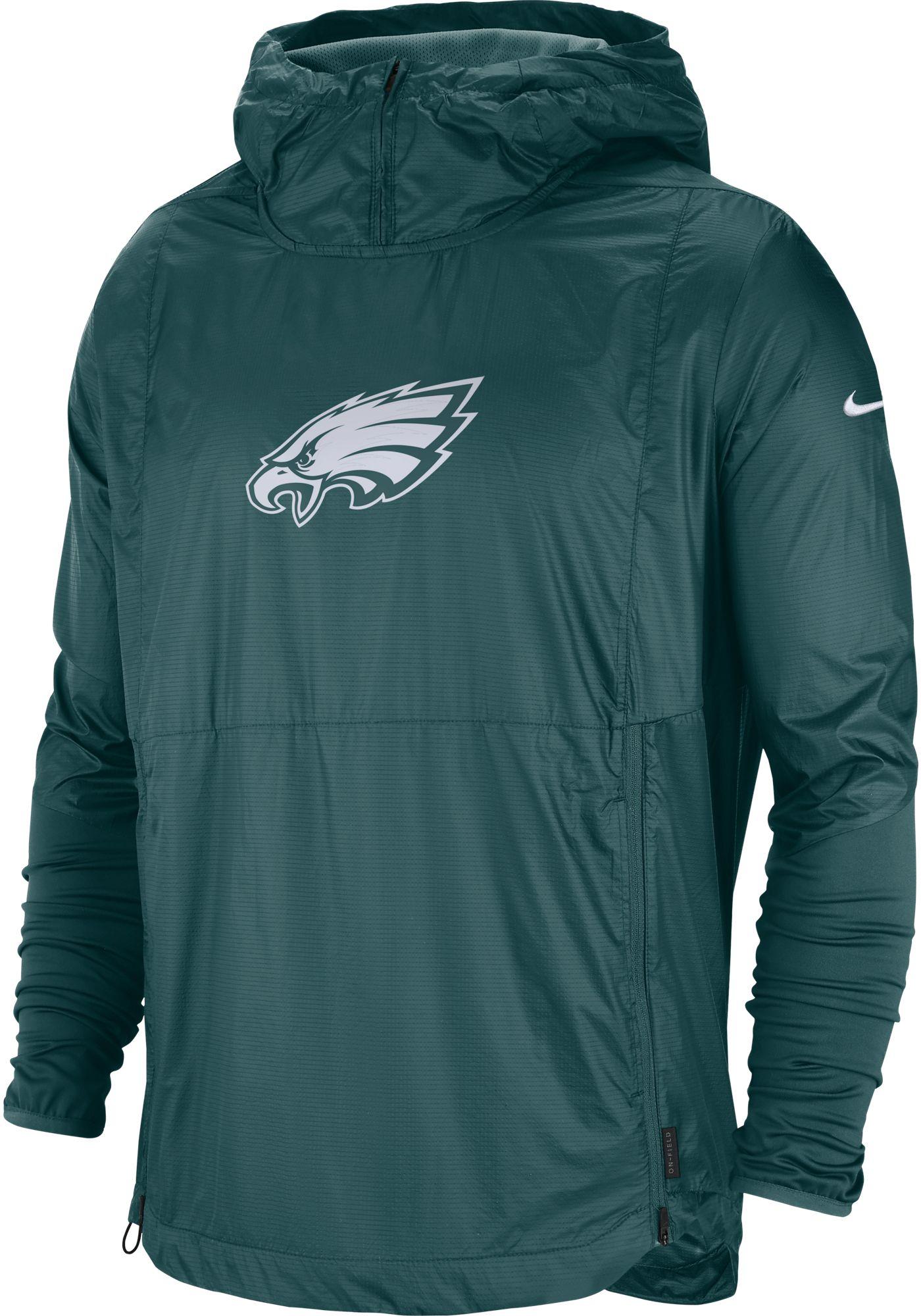 Nike Men's Philadelphia Eagles Sideline Repel Player Green Jacket