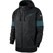 Nike Men's Philadelphia Eagles Sideline Therma-FIT Black Full-Zip Hoodie