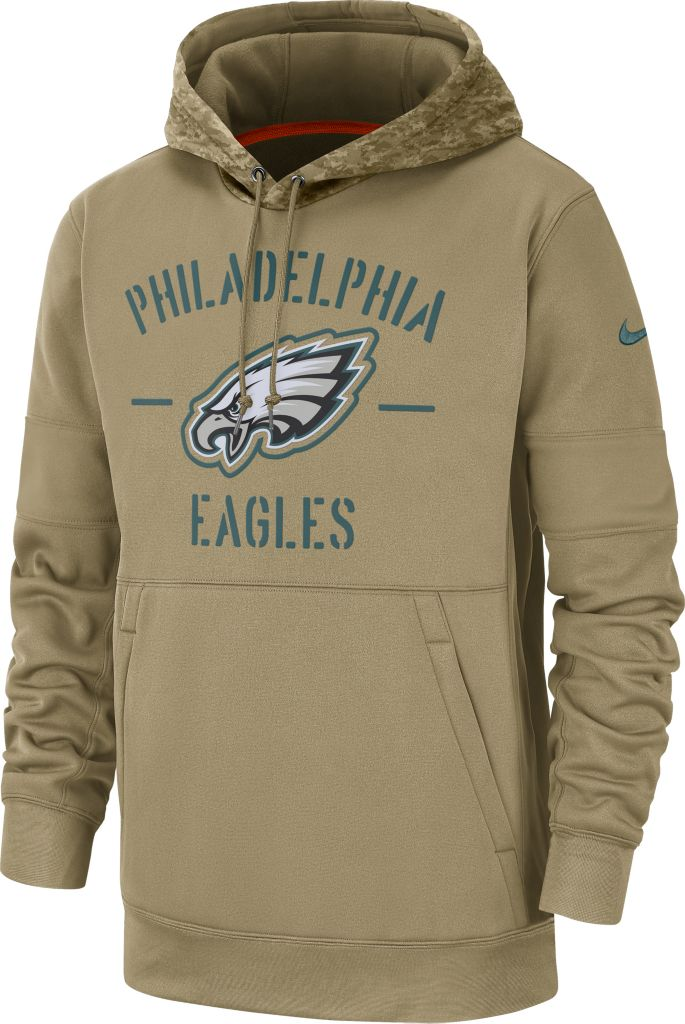 Nike Men's Salute to Service Philadelphia Eagles Therma FIT Beige Camo Hoodie