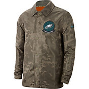 Nike Men's Salute to Service Philadelphia Eagles Olive Lightweight Camo Jacket