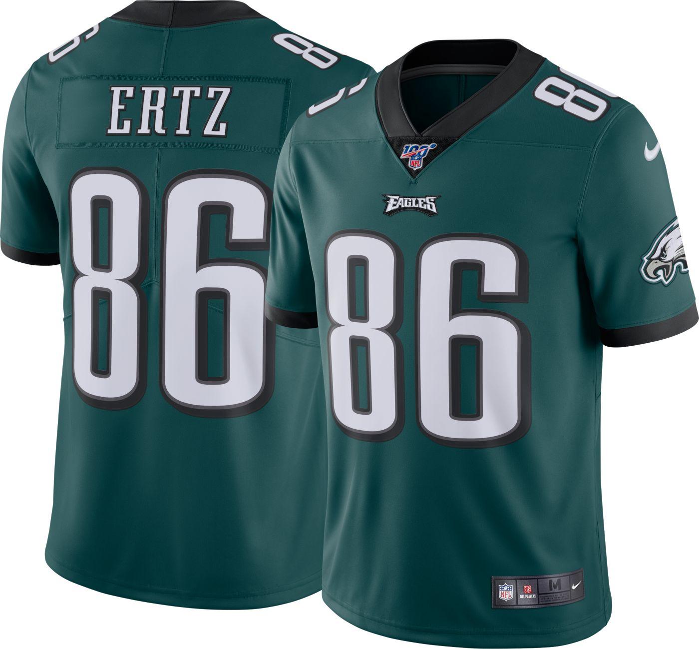 Nike Men's 100th Home Limited Jersey Philadelphia Eagles Zach Ertz #86