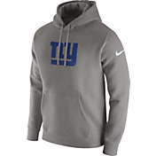 Nike Men's New York Giants Logo Club Grey Hoodie
