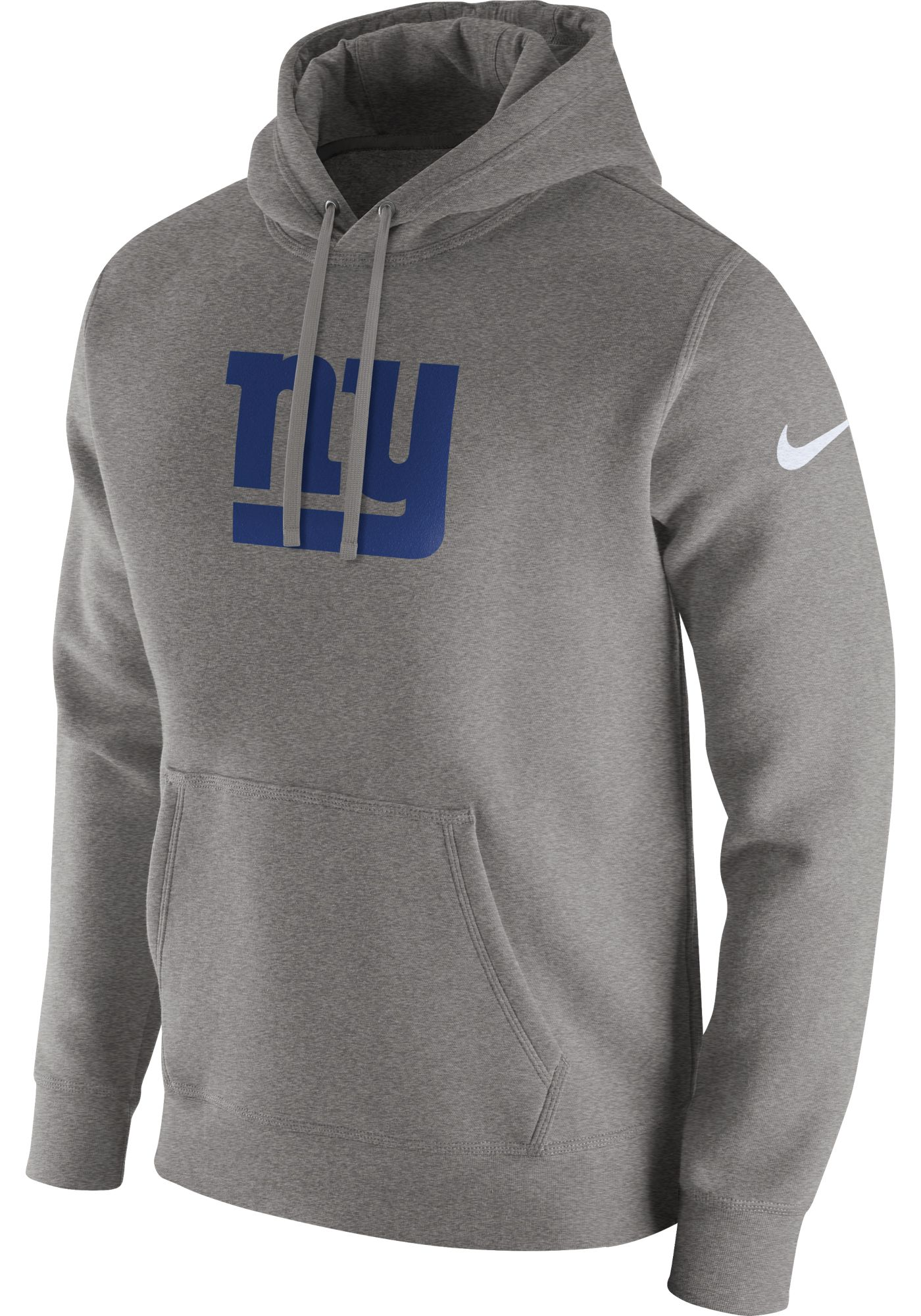 Nike Men's New York Giants Logo Club Grey Hoodie