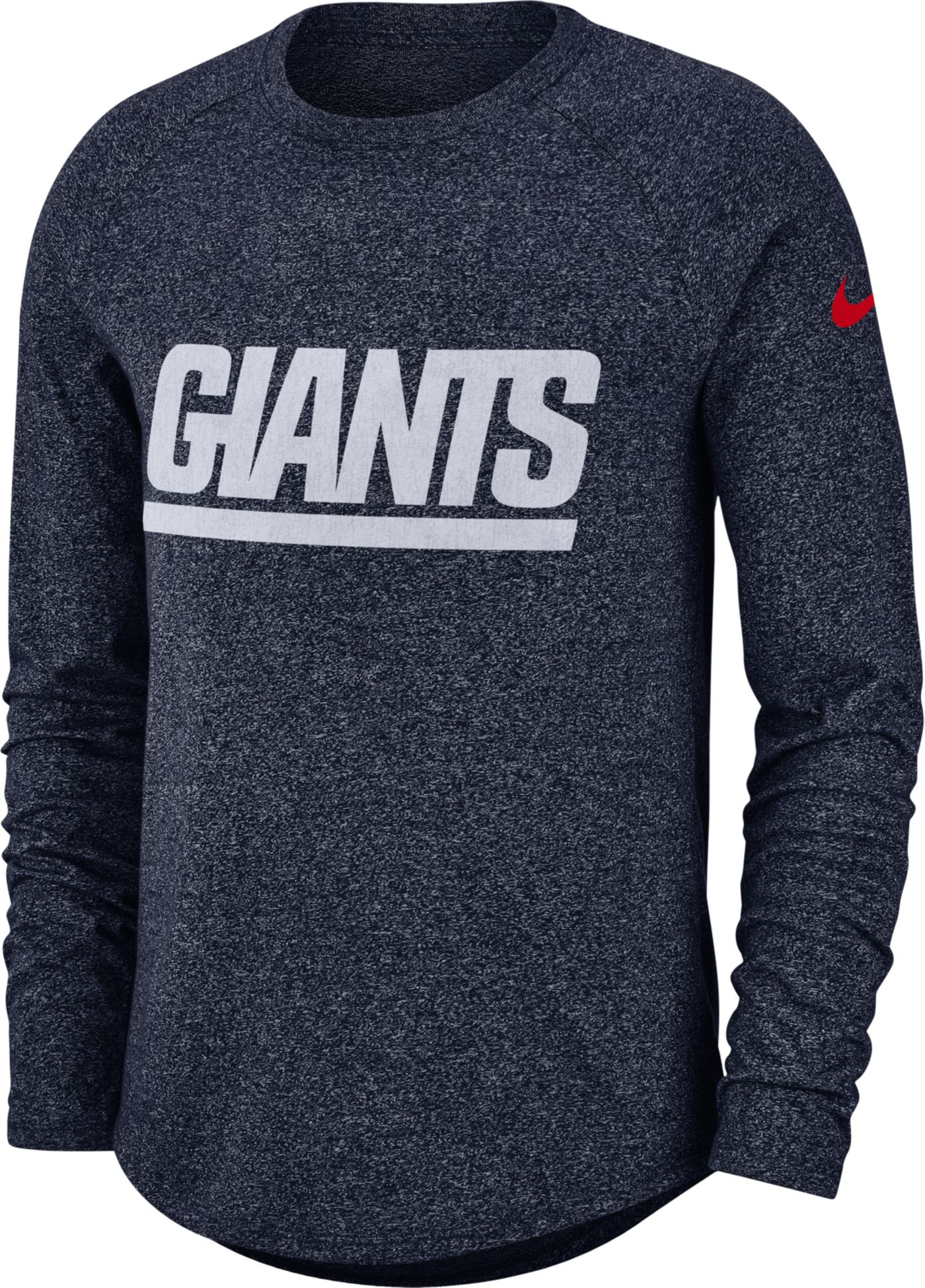 Nike Men's New York Giants Marled Historic Performance Navy Long Sleeve Shirt