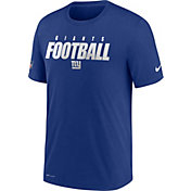Nike Men's New York Giants Sideline Dri-FIT Cotton Football All Royal T-Shirt