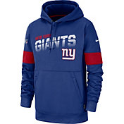 Nike Men's New York Giants 100th Sideline Therma-FIT Blue Pullover Hoodie