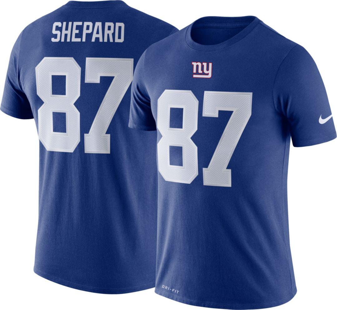 low priced a9199 e9768 Nike Men's New York Giants Sterling Shepard #87 Logo Royal T-Shirt