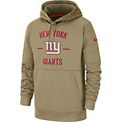 Nike Men's Salute to Service New York Giants Therma-FIT Beige Hoodie