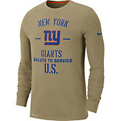 Nike Men's Salute to Service New York Giants Dri-FIT Beige Long Sleeve Shirt