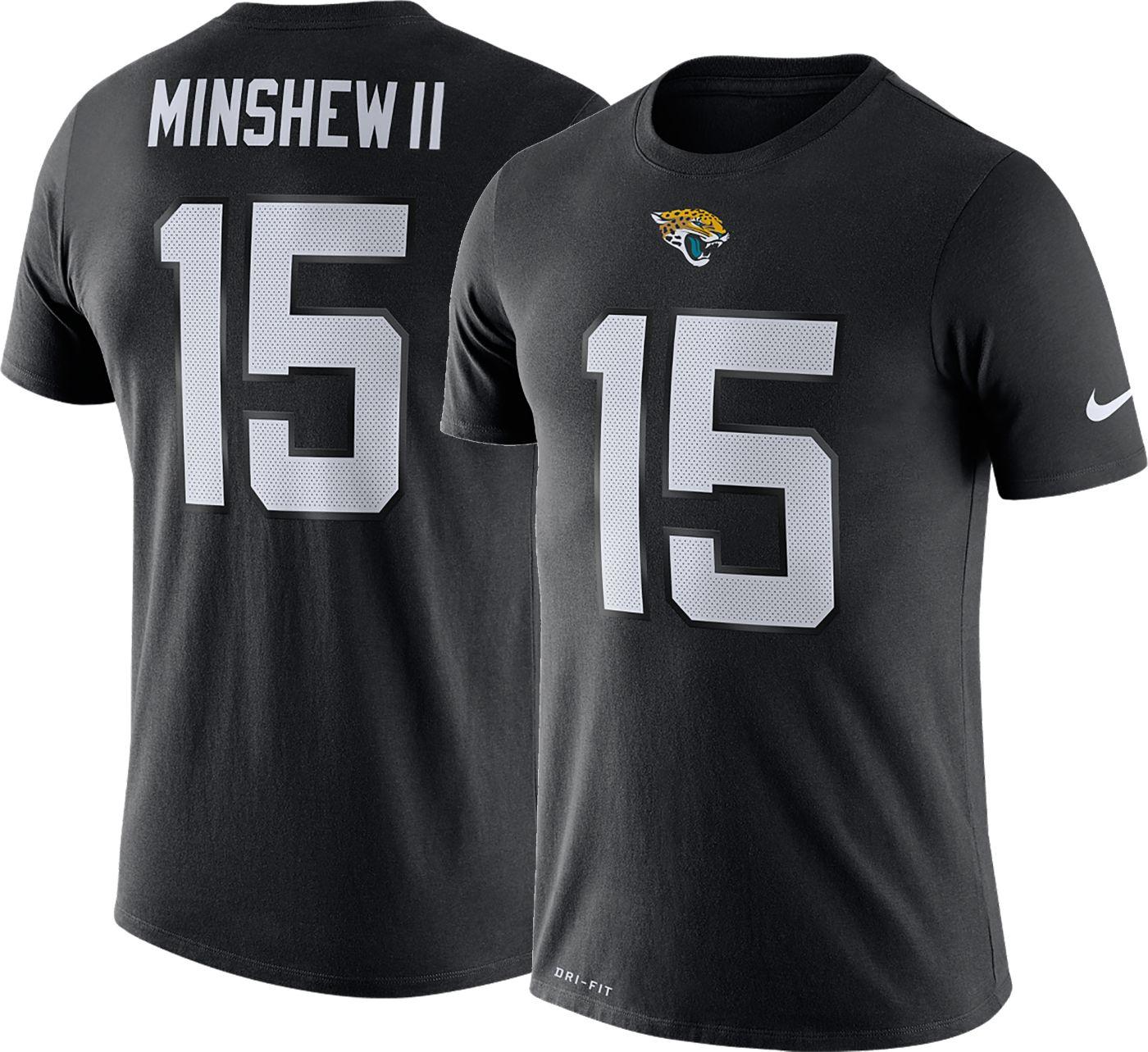 Nike Men's Jacksonville Jaguars Gardner Minshew II #15 Logo Black T-Shirt