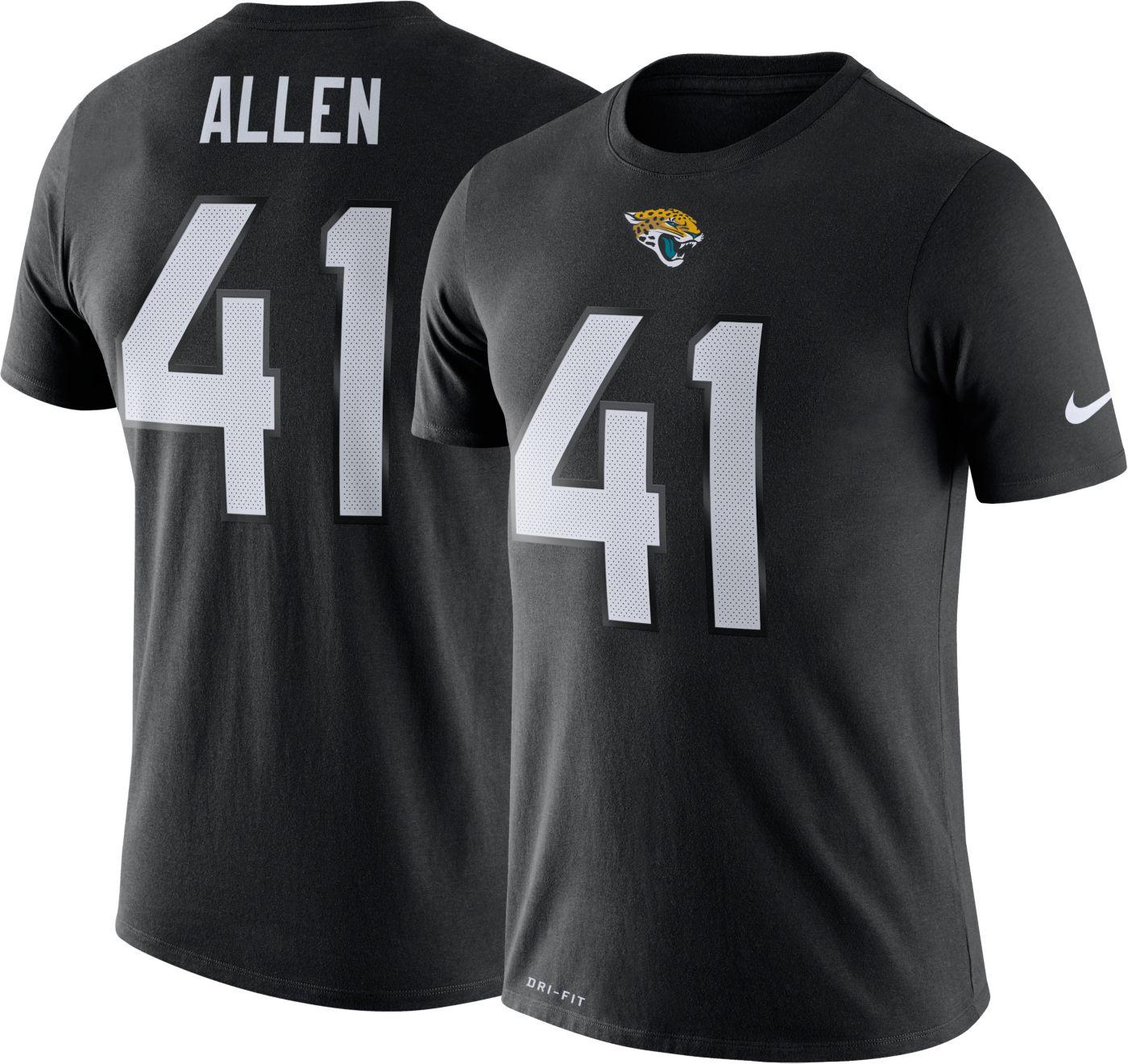 Nike Men's Jacksonville Jaguars Josh Allen #41 Logo Black T-Shirt