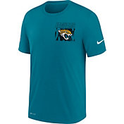Nike Men's Jacksonville Jaguars Sideline Dri-FIT Cotton Facility Blue T-Shirt