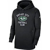 Nike Men's New York Jets Sideline Therma-FIT Local Black Performance Hoodie