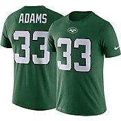 Nike Men's New York Jets Jamal Adams #33 Logo Green T-Shirt