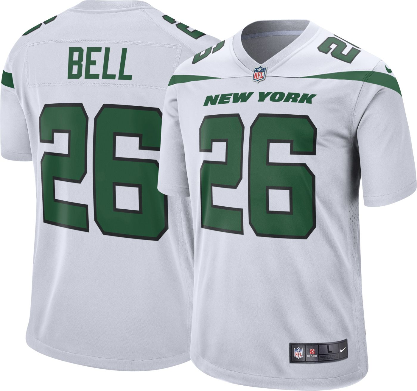 Nike Men's Away Game Jersey New York Jets Le'Veon Bell #26