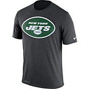 Nike Men's New York Jets Legend Logo Performance Charcoal T-Shirt