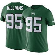 Nike Men's New York Jets Quinnen Williams #95 Logo Green T-Shirt