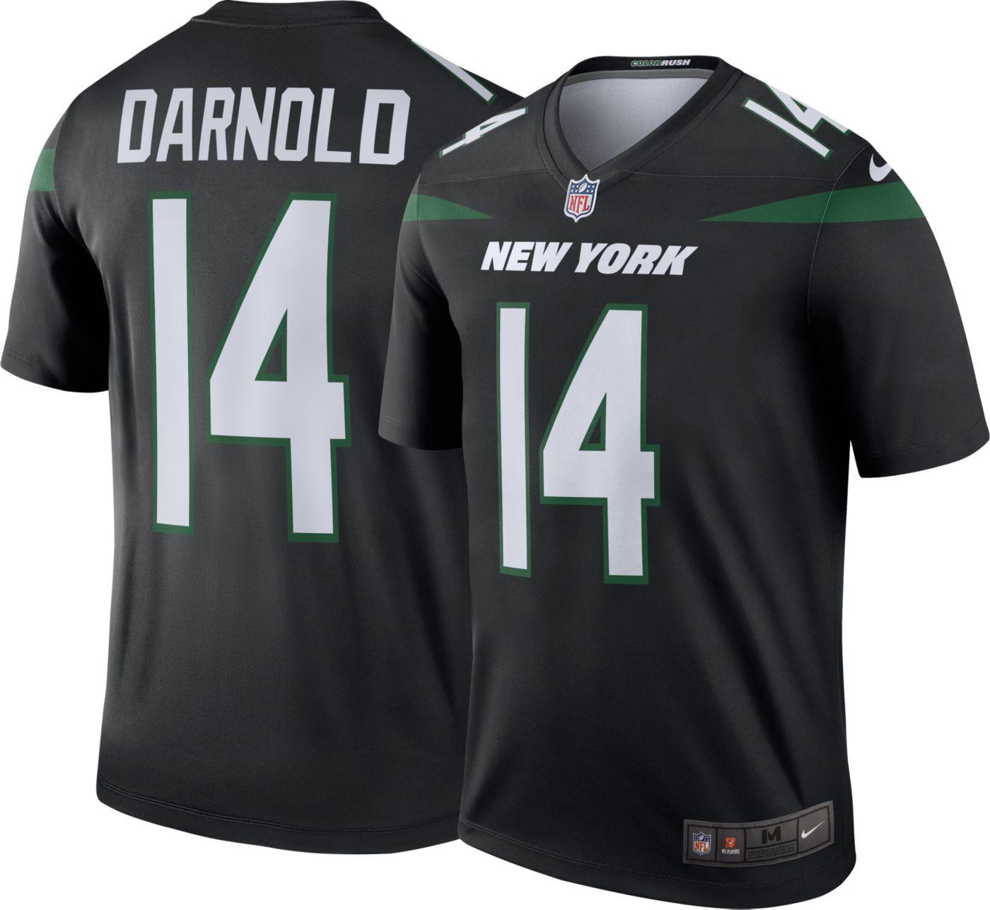 Nike Men's Color Rush Legend Black Jersey New York Jets Sam Darnold #14