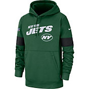 Nike Men's New York Jets 100th Sideline Therma-FIT Green Pullover Hoodie