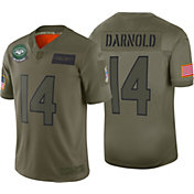 Nike Men's Salute to Service New York Jets Sam Darnold #14 Olive Limited Jersey