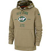Nike Men's Salute to Service New York Jets Therma-FIT Beige Hoodie