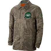 Nike Men's Salute to Service New York Jets Olive Lightweight Camo Jacket