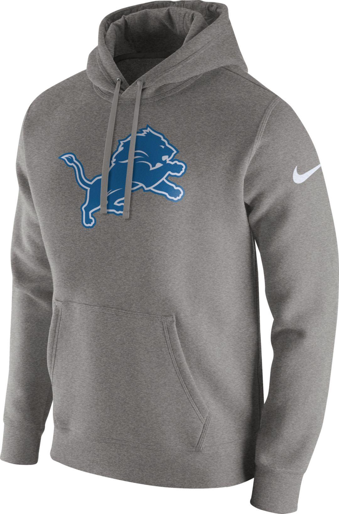 the best attitude df15e db4a0 Nike Men's Detroit Lions Logo Club Grey Hoodie